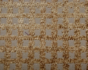 Gold Grid Texture Fabric -Upholstery Fabric By The Yard - Brown Upholstery Fabric By The Yard