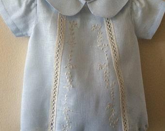 Blue baby bodysuit