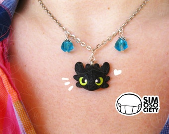 Toothless Head Necklace