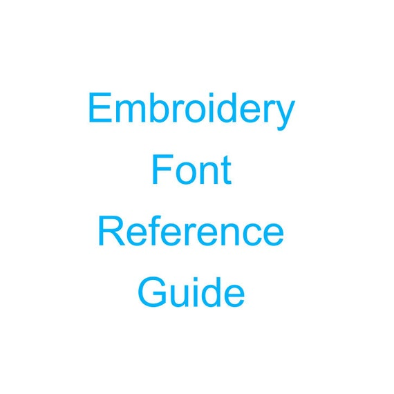 Embroidery font reference guide by youngstitches on etsy