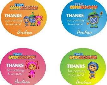Team Umizoomi Labels (12)