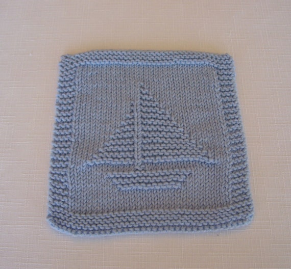 Knitting Patterns For Baby Washcloths : Baby Washcloths Hand Knit Baby Boys by PLAwear on Etsy