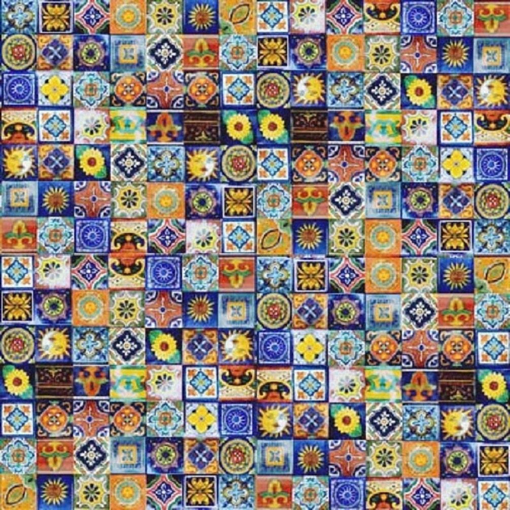 100 2x2 Mexican Mosaic Tiles