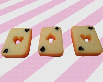 20mm Kawaii Cookie Card Cabochons Decoden - 6pc set