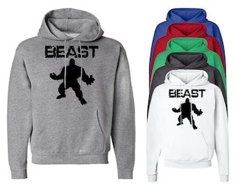Beast Hoodie Funny Gym Hooded Sweatshirts