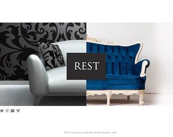 wordpress website for designer, boutique, artist portfolio custom website design business website restaurant website boutique website 網頁設計