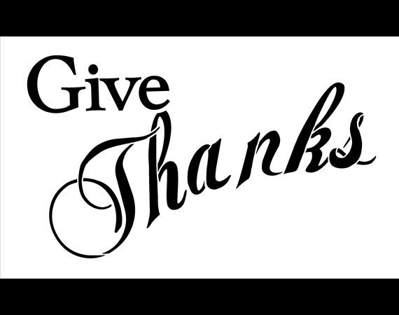 letter stencils printable give thanks banner stencil 14 x 8 1 2 stcl489 1439
