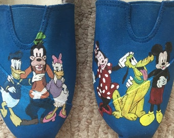 Fab Five hand painted TOMS and off brand shoes