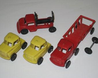Vintage WANNATOYS Plastic Toy Truck Lot