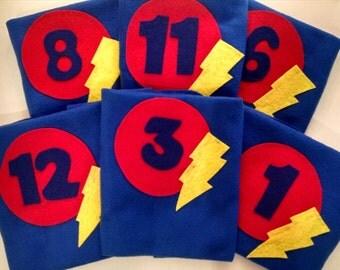 Numerical Superhero Cape Sets ~Photo Prop~ Party Favors