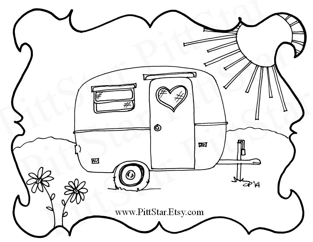 Instant Download Boler / Scamp Travel Trailer Printable