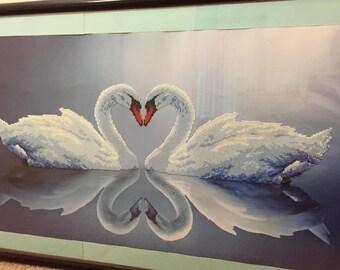 peyote bead - swan