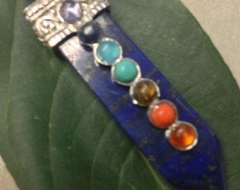 Lapis Lazuli Chakras Pendant Neckalce
