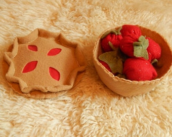 Felt Pie - Imagination Toy, Pretend Play