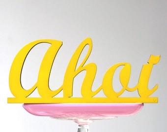 Ahoi - Wooden font