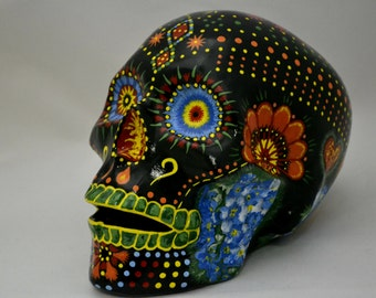 Brilliant Handmade Points Mexican Sugar Skull influenced by the Day of the Dead MADE TO ORDER