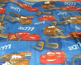 Disney Cars Fleece Blanket with Lighting McQueen and Mater