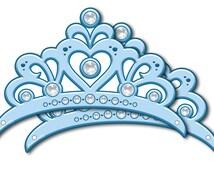 Blue Princess Crown (Instant Download)