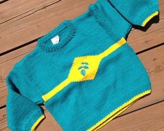 Children's Knitted Sweater, Baby Sweater, Boy's Sweater, Girl's Sweater - Size 4