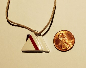 Polymer Clay Sailboat Sail Pendant, Necklace, Jewel, Handmade