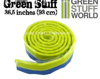 Green Stuff Putty 36'5 inches (93cm) - Modeller Epoxy Putty - Kneadatite Blue Yellow Duro