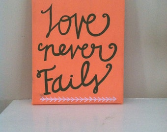 Love Never Fails Canvas Painting