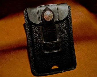 Custom Leather Cell Phone Case for Samsung 5.5 in hard case.