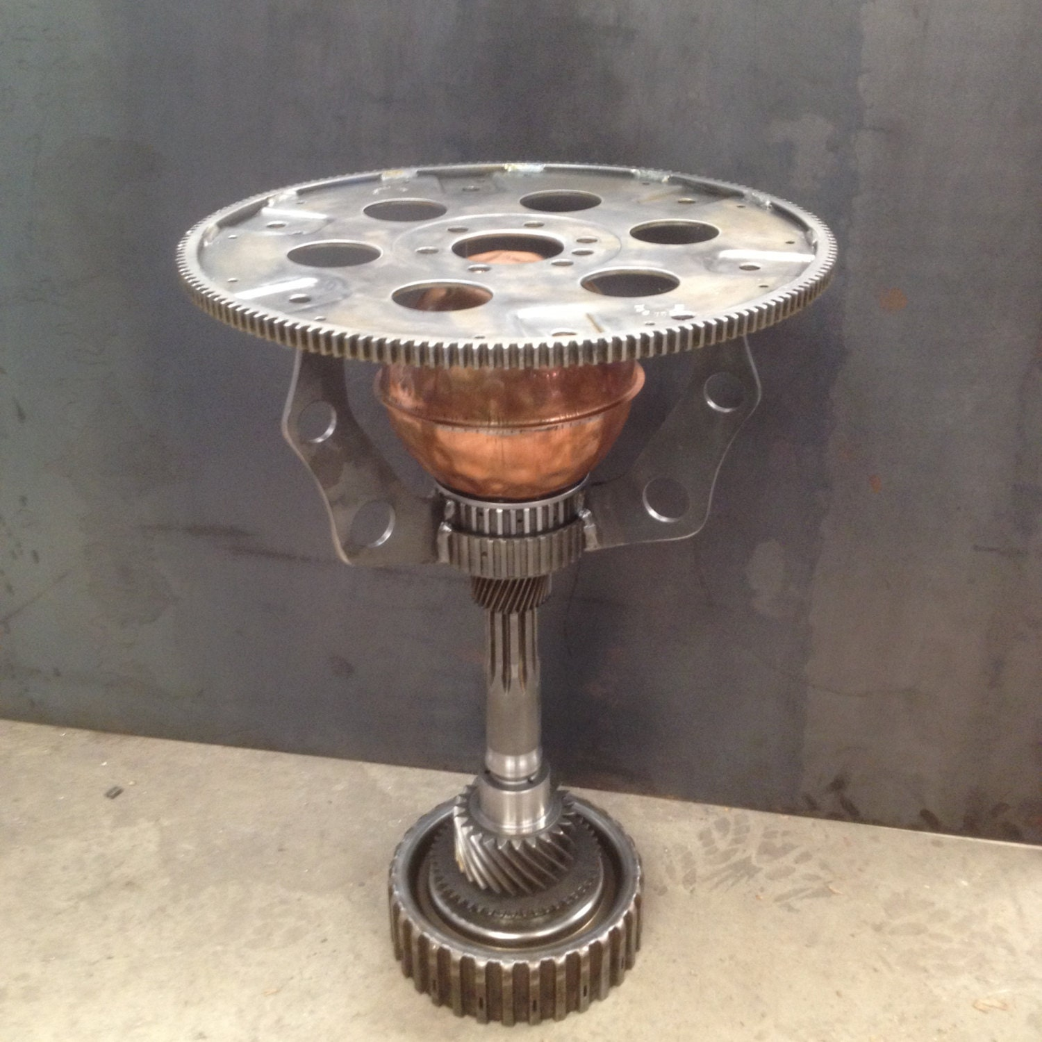 steampunk end table steampunk industrial machine age end table 694