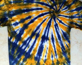 Navy/Orange Tie Dye Spiral