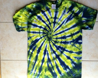Navy/Yellow Spiral Tie Dye