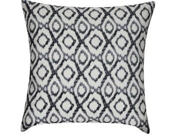 """Loom and Mill 22"""" x 22"""" Ikat Diamonds Decorative Pillow"""