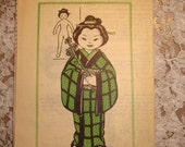 "Dolls of All Nations Pattern 7244 ""Miss Japan"""