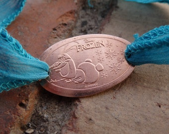 Smashed Penny Bracelet with Olaf from Frozen