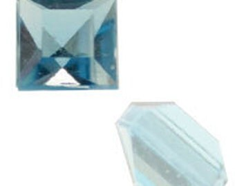 4mm Aquamarine Square Acrylic Pointed-back Stones (144pcs)