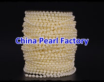 50Meter/Roll 5MM Ivory Diy Craft Faux Fused Pearl Beaded Garland Strand Chain Wedding DIY Decorations Garland
