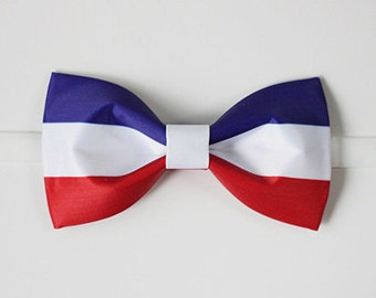 France Bowtie - Modern Boys Bowtie, Toddler Bowtie Toddler Bow tie,Pre Tied and Adjustable