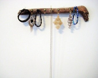 Embellished Driftwood Jewelry Display #6