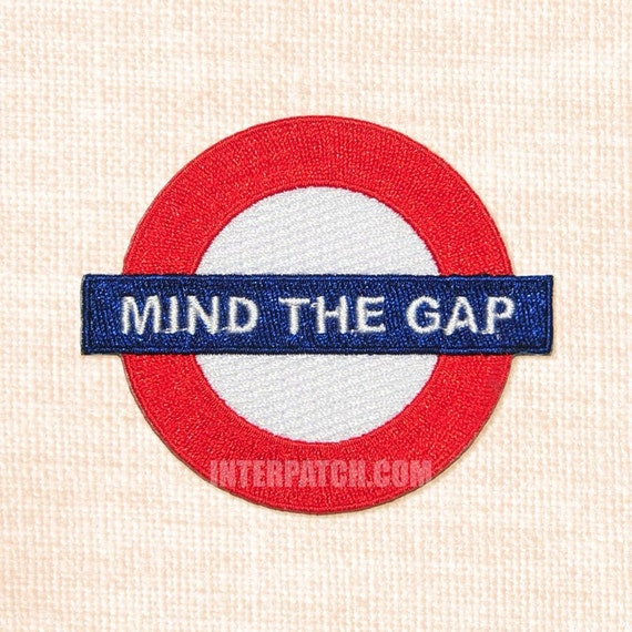 Items similar to mind the gap embroidered patch united