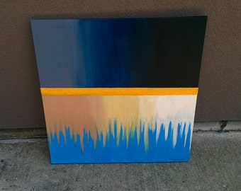 Original Acrylic Abstract 20x20 Painting on Canvas