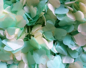 Mint Green & Ivory Biodegradable Conettti Eco Friendly Vintage Wedding Decorations