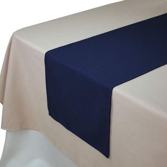 Navy blue table runner 14 x 108 inches navy blue by houseofka for Table runners 52 inches