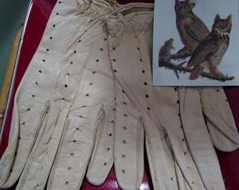Sporty Deerskin Leather Gloves