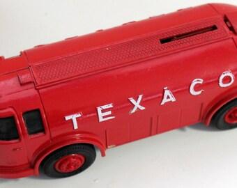 Die Cast Bank, Texaco Diamond T Tanker Bank,  1934 Model Diamond Doodle Bus,  Ertl