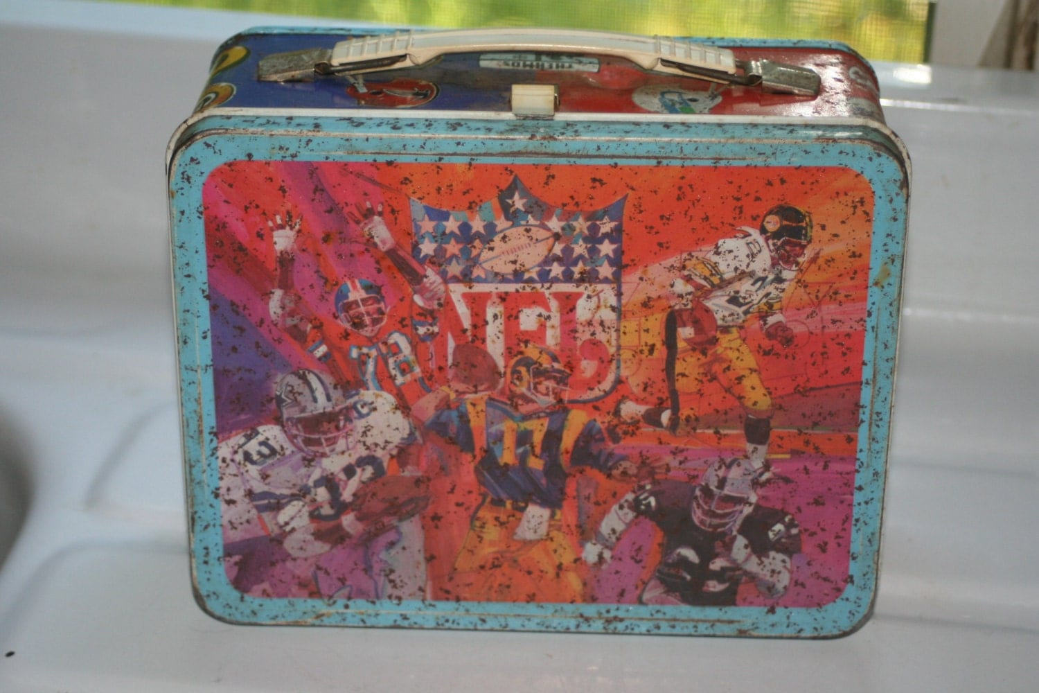 Vintage 1978 NFL Lunch Box No Thermos Collectible Vintage