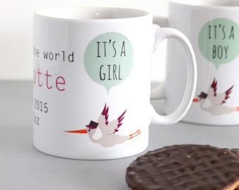 Personalised New Baby Girl Mug