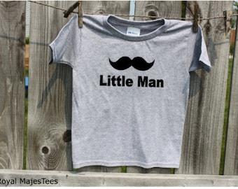 Mustache Little Man Shirt, Moustache Shirt