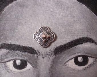 Silver bindi for tribal bellydance