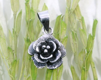 Flower, pendant 925 sterling silver  --  2815
