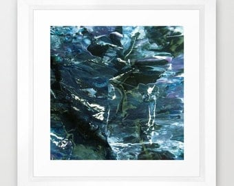 """WATER With ICECUBES  Abstract Framed Print  12"""" x 12"""""""