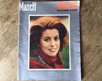 Paris Match magazine from 1970 featuring Catherine Deneuve